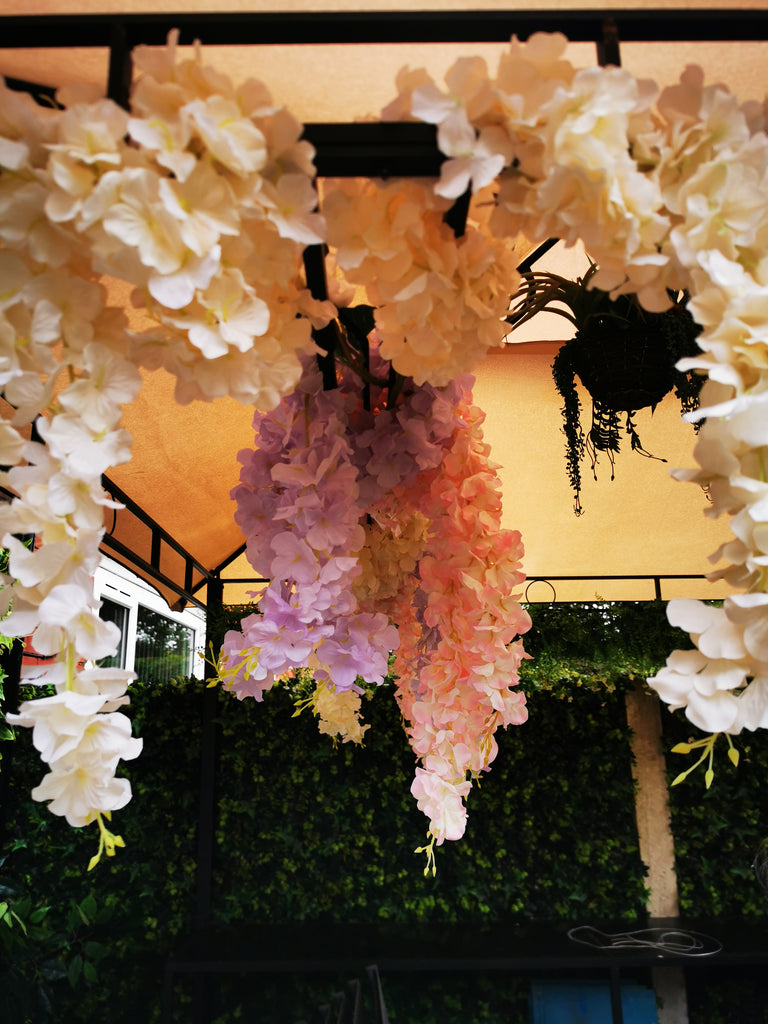 Artificial silk wisteria