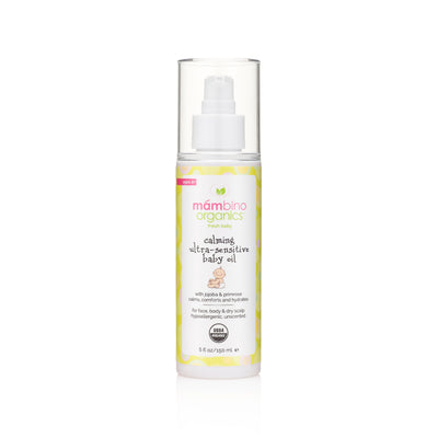 Calming Ultra-Sensitive Baby Oil, Jojoba + Primrose
