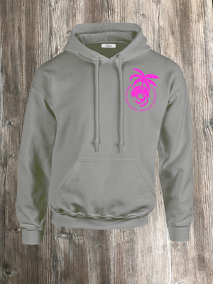 PERMANENT VACATION HOODIE GREY AND PINK
