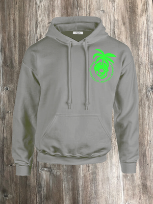 PERMANENT VACATION HOODIE GREY AND GREEN