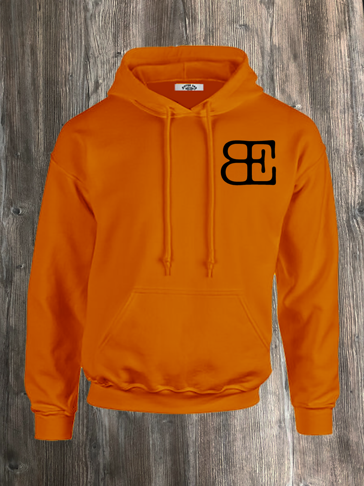 BE LOGO HOODIE ORANGE