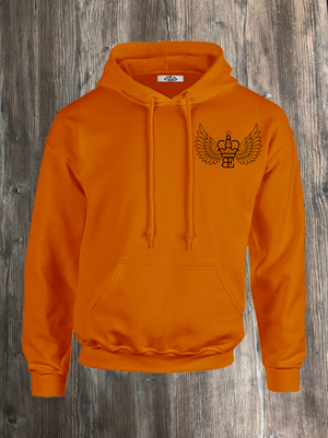 ETHEREAL HOODIE ORANGE AND BLACK