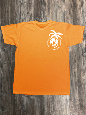 PERMANENT VACATION REGULAR FIT FRONT PRINT ORANGE AND WHITE
