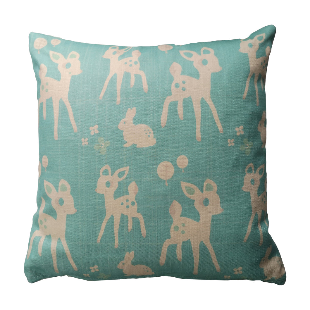 Woodland Cushion (blue)