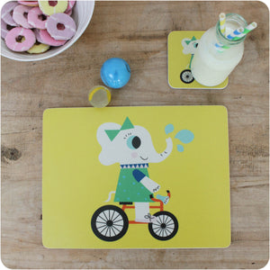 Evie Elephant Placemat & Coaster Gift Set