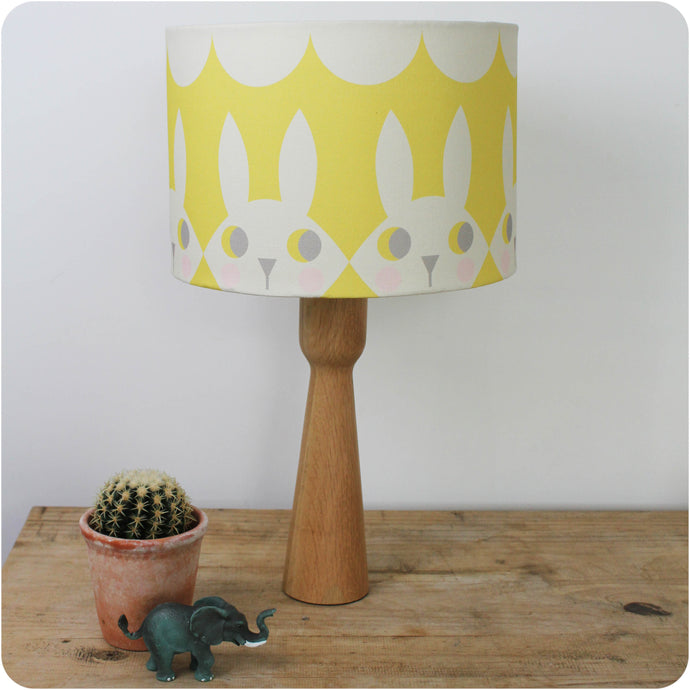 Yellow Happy Bunny Lampshade