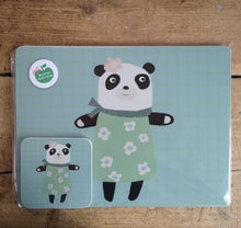 Load image into Gallery viewer, Mama Panda placemat & coaster gift set