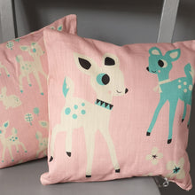 Load image into Gallery viewer, Woodland Cushion (pink)