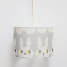Load image into Gallery viewer, Grey Happy Bunny Lampshade
