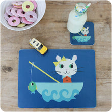 Load image into Gallery viewer, kiki Cat Placemat & Coaster Gift Set