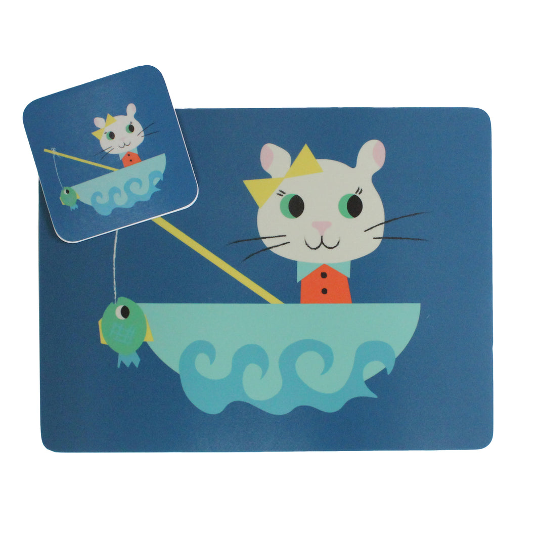kiki Cat Placemat & Coaster Gift Set