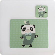 Load image into Gallery viewer, Papa Panda placemat & coaster gift set