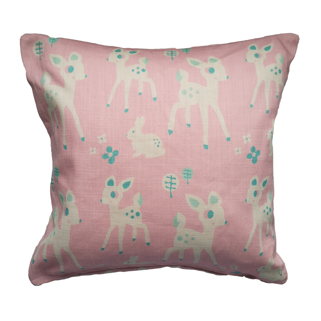 Woodland Cushion (pink)