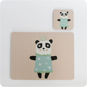 Princess Panda placemat & coaster gift set