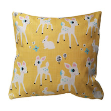Load image into Gallery viewer, Woodland Cushion (yellow)