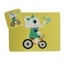 Load image into Gallery viewer, Evie Elephant Placemat & Coaster Gift Set