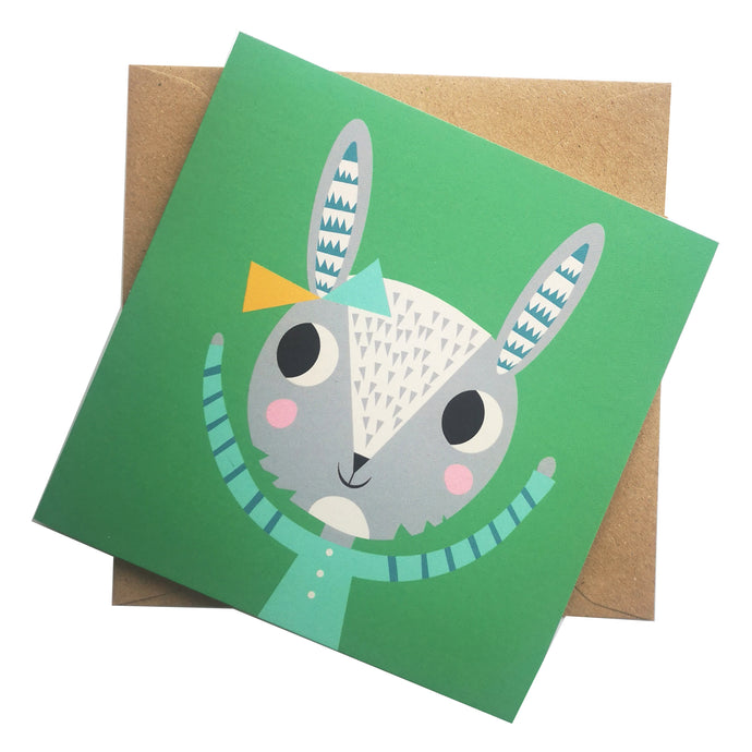 Little Miss Rabbit Greeting Card