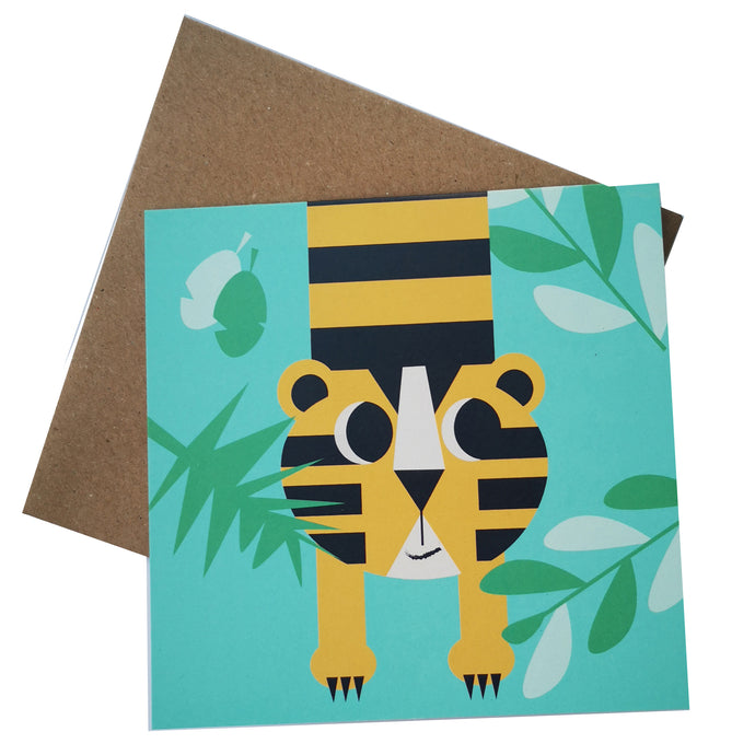 Timid Little Tiger Greeting Card