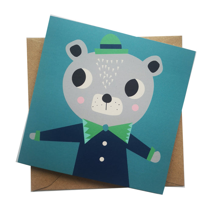 Ted Bear Greeting Card