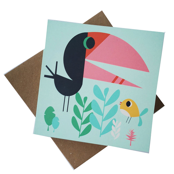Happy Birds Greeting Card