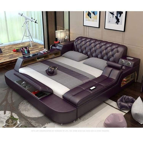 Leather Bed Frame - Pausetwoplay