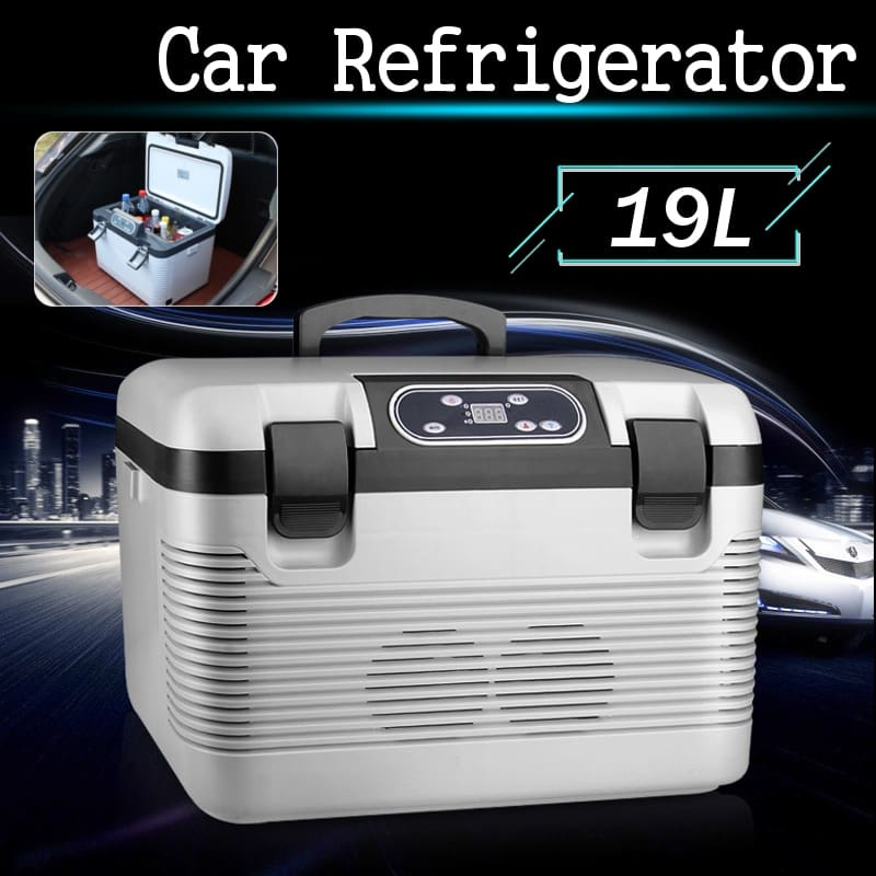 Mini Double-system Refrigerator Car Cooler Box