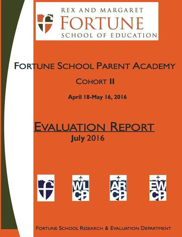 Spring 2016 Fortune School Parent Academy Evaluation Report
