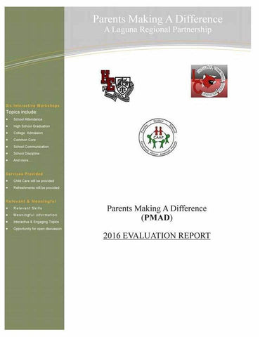 2016 Parent Making a Difference Parent Academy Evaluation Report