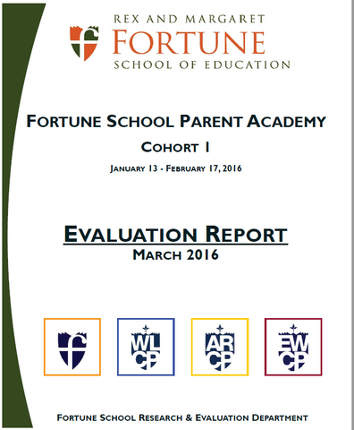 March 2016 Fortune School Parent Academy Evaluation Report, Cohort 1