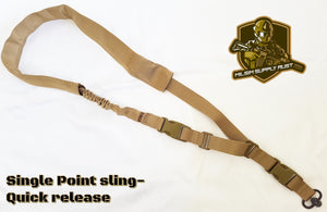 Tactical Single Point Sling (Bungee) Quick Release