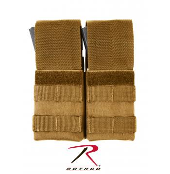 Rothco MOLLE Double M16 Pouch w/ Inserts Coyote Brown