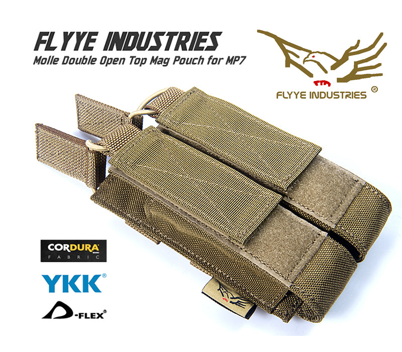 FLYYE Molle Double Open Top Mag Pouch for MP7