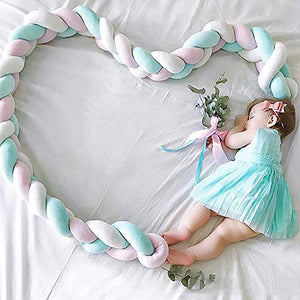 Soft Braided Crib Bumper Knot Pillow