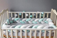 Load image into Gallery viewer, Soft Braided Crib Bumper Knot Pillow