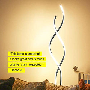 Modern LED Spiral, 2 in 1 Lamp Silver