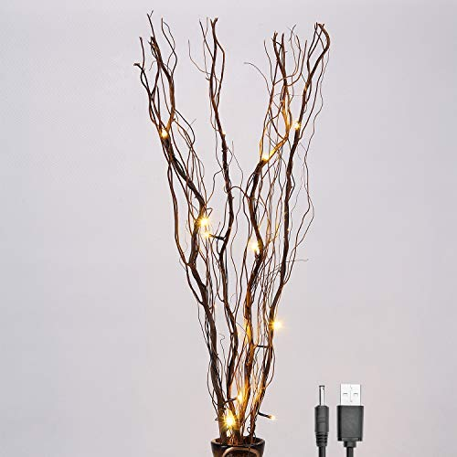 LED Natural Willow Twig Lighted Branch