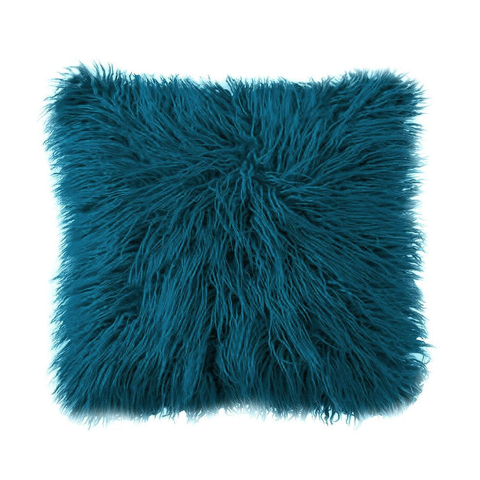 Mongolian Fur Throw Pillow Cover