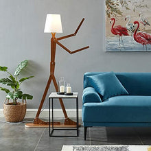 Load image into Gallery viewer, Modern Contemporary Wooden Floor Lamp
