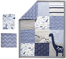 Load image into Gallery viewer, Bedtime Dinosaur 3 Piece Crib Set