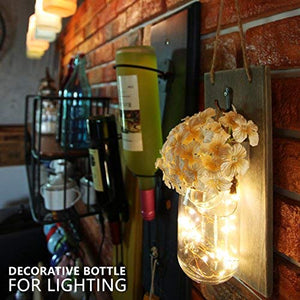 Rustic Brown Mason Jar Sconces