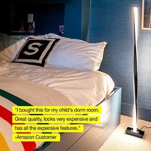 Platinum Silver LED Floor Lamp 48""