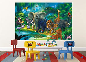 Jungle Animals Safari Adventure Wall Mural