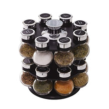 Load image into Gallery viewer, Kamenstein 5123721 Ellington 16-Jar Revolving Countertop Spice Rack Organizer with Free Spice Refills for 5 Years