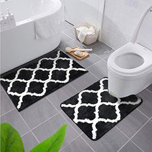 Load image into Gallery viewer, 2 Piece Microfiber Bath Mat Set