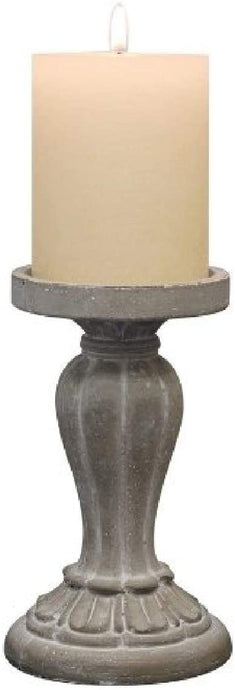 Molded Cement Pillar Candle Holder