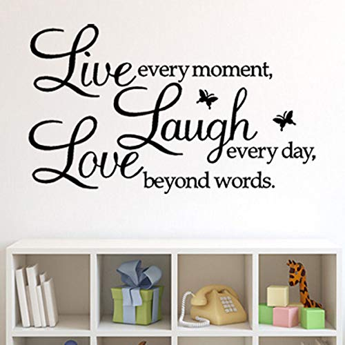 Live Every Moment Motivational Wall Decals
