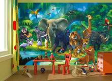 Load image into Gallery viewer, Jungle Animals Safari Adventure Wall Mural