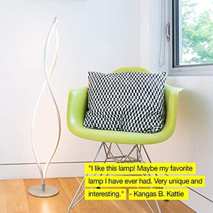 Modern LED Spiral Floor Lamp