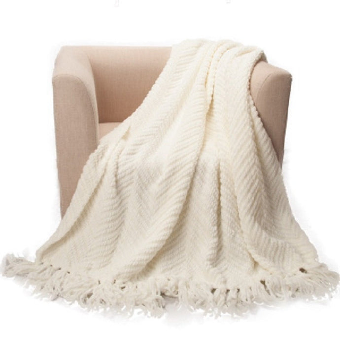 Battilo Knit Woven Throw Blanket