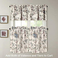 Load image into Gallery viewer, H.VERSAILTEX Window Valance Rustic Style Ultra Soft Material Suits for Kitchen Bath Laundry Bedroom Living Room (Rod Pocket, 58 by 15 inch, Vintage Floral Pattern, Set of 1)